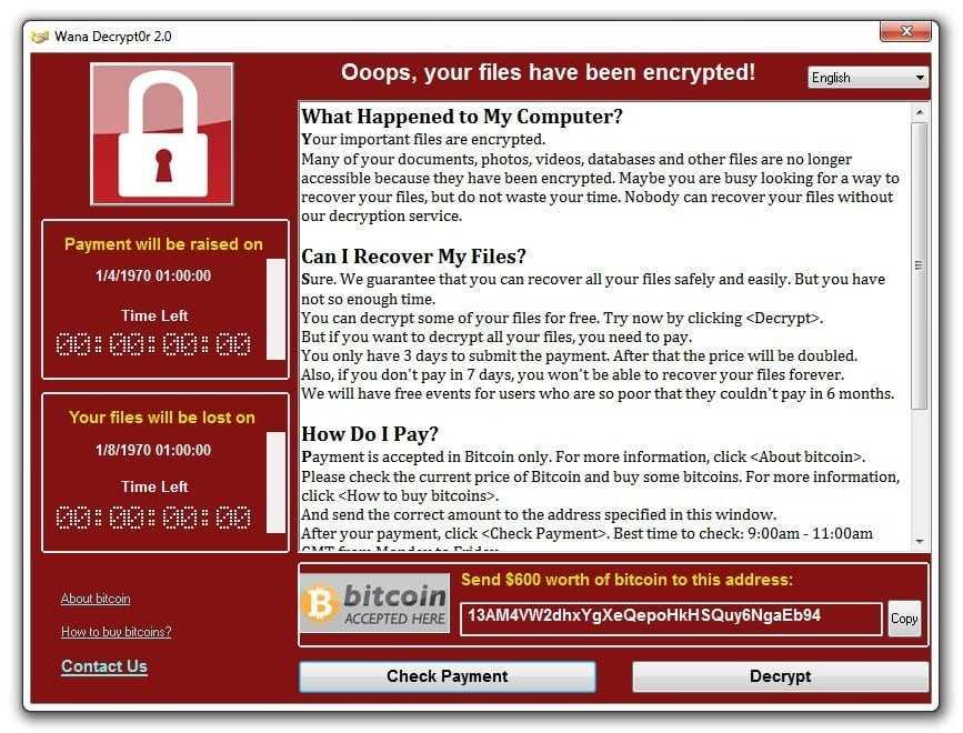 Největší útok s využitím ransomwaru na světě